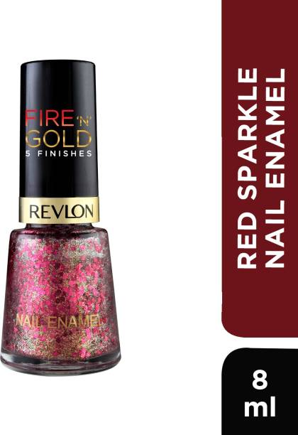 Revlon Nail Enamel (Red and Gold Coloection) 8ml Red Sparkle