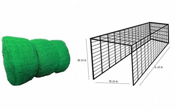 ZHOOSH 3 Side Interlocked Cricket NET with ROOF for Practice (100 x10 ft) Cricket Net