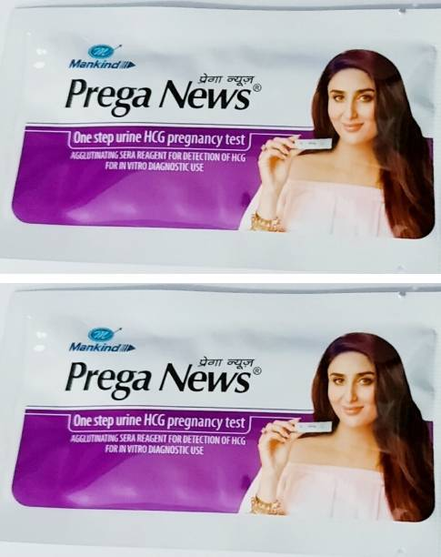PREGANEWS Mankind Prega news combo of 2 Pregnancy Test Kit (2 Tests) Pregnancy Test Kit