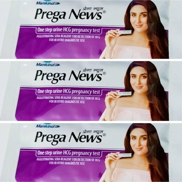 PREGANEWS mankind Prega News(One step Urine HCG pregnancy Test) Digital Pregnancy Test Kit (3 Tests) Pregnancy Test Kit