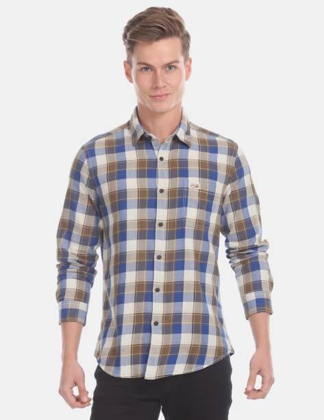 U.S. POLO ASSN. Men Solid Casual Yellow Shirt