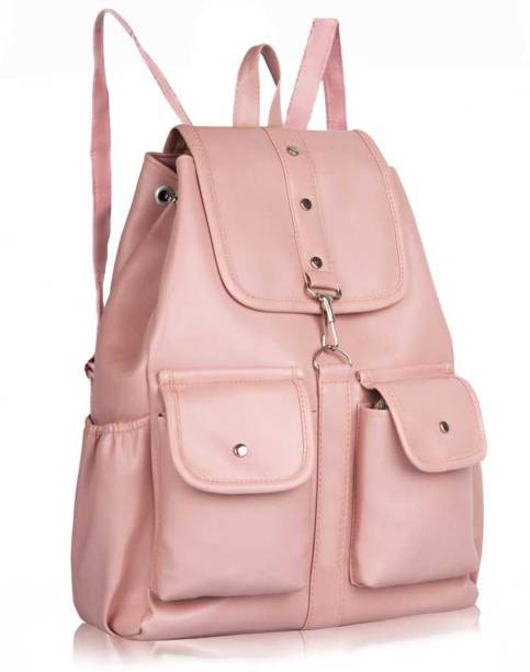 kncollection Knc Pink Colour Backpack for Girls ,Kids and ladies Waterproof Backpack