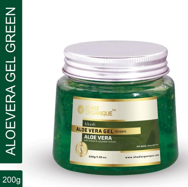 khadi ORGANIQUE Aloevera gel (green) for Face & Body Treatment