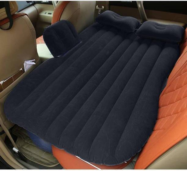 Ada Black Inflatable Travel Car Bed Air Sofa with Two Inflatable Pillow for Car Back Seat Car Air Bed Mattress for Car Sleeping Bed Travel Inflatable Backseat Mattress Car Inflatable Bed