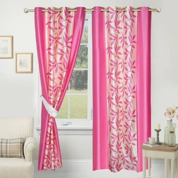 Gantavya 182.88 cm (6 ft) Polyester Window Curtain (Pack Of 2)