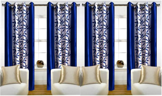 Adimanav 213.36 cm (7 ft) Polyester Door Curtain (Pack Of 4)