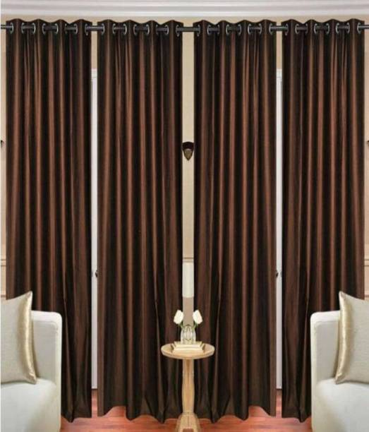 Guruh Homes 274.32 cm (9 ft) Polyester Long Door Curtain (Pack Of 4)