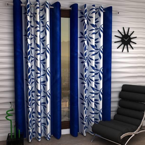 Adimanav 213.36 cm (7 ft) Polyester Door Curtain (Pack Of 2)
