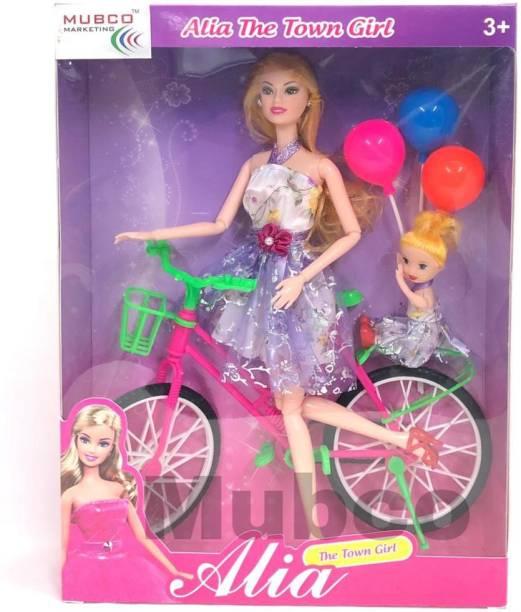 Mubco Alia Glam Bike with Baby Doll Multi