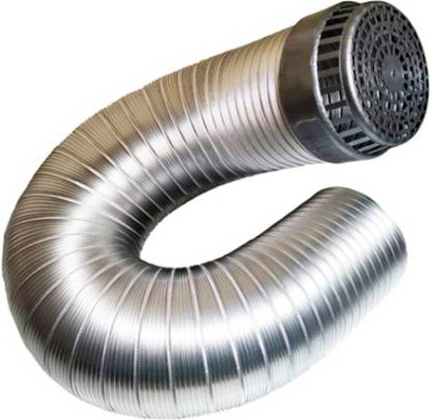 "NEEDX Kitchen Chimney Pipe 5""+Cowl Cap Aluminium Chimney Pipe Hose Pipe"