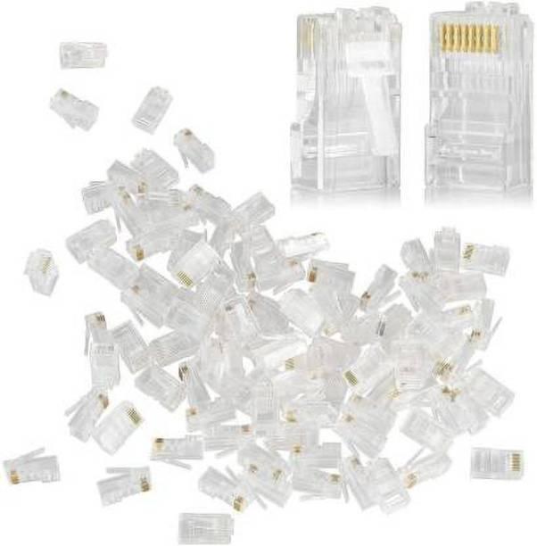 atekt RJ-45 NT Ethernet Crimp Connectors Lan Adapter (100 Pcs) Lan Adapter (100 Mbps) Network Interface Card