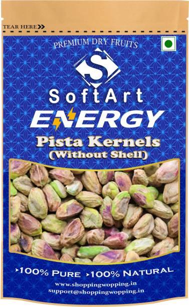 Soft Art Energy Pista Kernels (without shell) Vaccum Pack Pista (100 grams) Pistachios