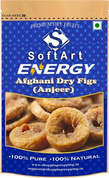 Soft Art Energy Afghani Dry (Anjeer) Vacuum Pack Figs (100 grams) Figs