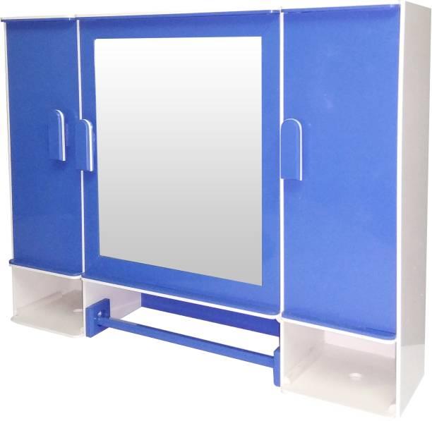 WINACO Diplomat Off White Lapis Blue Bathroom Cabinet Fully Recessed Medicine Cabinet