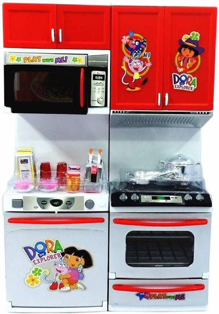 aashu enterprise dora modan kitchen set play for kids