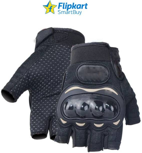 Flipkart SmartBuy Half Cut Black Gloves_XL Riding Gloves
