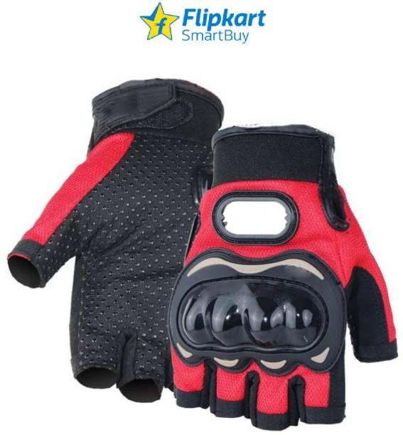 Flipkart SmartBuy Half Cut Red Gloves_XL Riding Gloves