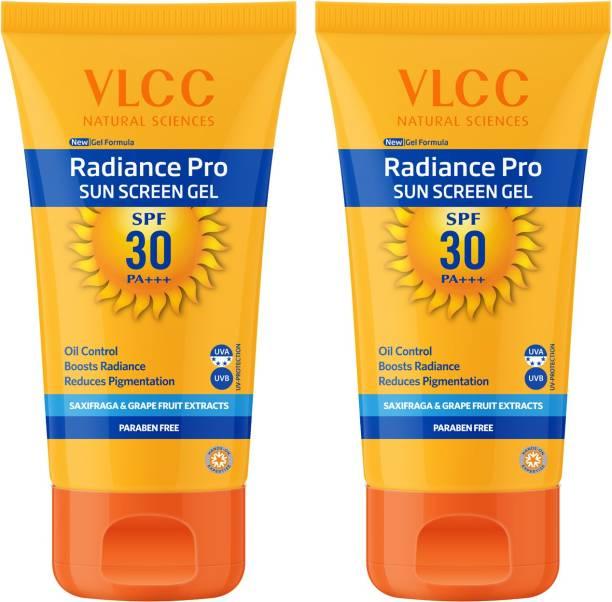 VLCC Radiance Pro SPF 30 PA+++ Sun Screen Gel(50gm) Pack of 2 - SPF 30 PA+++