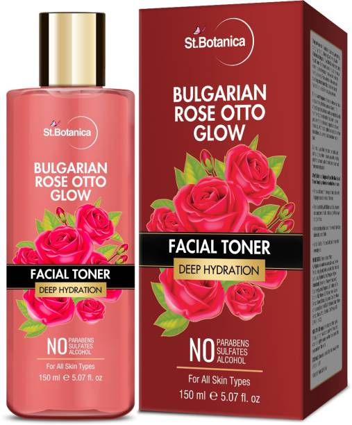 StBotanica Bulgarian Rose Otto Glow Deep Hydration Facial Toner | Deep Hydration | No Paraben, SLS & Alcohol Men & Women