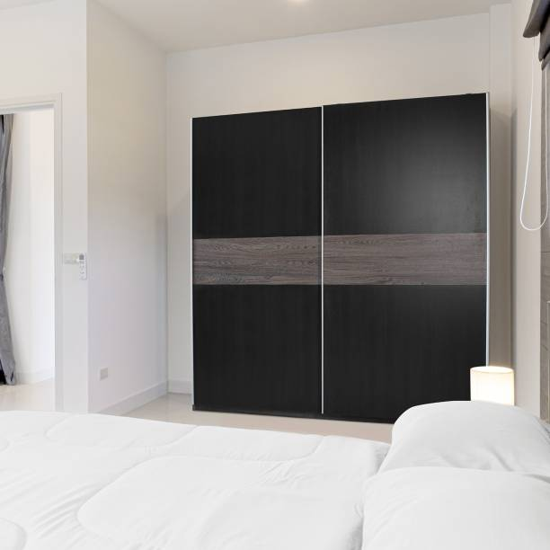 Zuari Longline Sliding Door Engineered Wood 2 Door Wardrobe