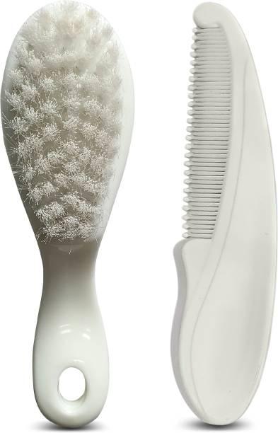 LuvLap Elegant Baby Hair Brush and Comb Set, 0m+