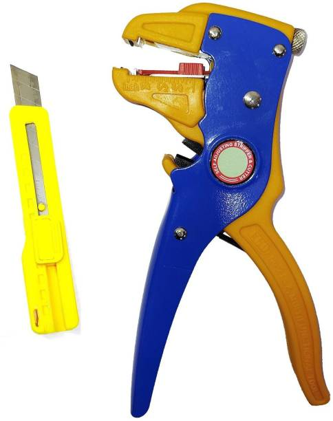 Inditrust Self adjusting Cable Wire Insulation Stripper Cutter Automatic Tool with Heavy Duty Cutter Knife Wire Cutter