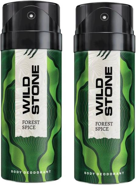Wild Stone FOREST SPICE - 02 (150ml) each Deodorant Spray  -  For Men