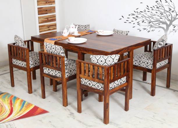 Flipkart Perfect Homes Solid Wood 6 Seater Dining Set