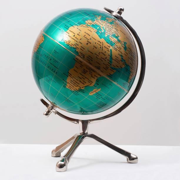 "Casa Décor Educational Globe for Kids | 8"" Desktop Globe with metal Stand Desk & Table top World globe Desk & Table Top Political World Globe Desk & Table Top, Floor ,office Décor,Educational Globe Political World Globe"