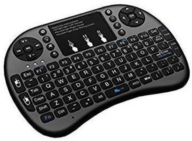 Renyke Bluetooth Mini Special Keys Wireless Hand Held Keyboard with Touch Pad Bluetooth, Wireless Multi-device Keyboard