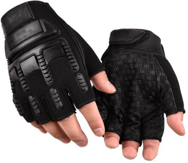 DaylFora Black Commando Tactical Breathable Fabric Cycling Riding Gloves