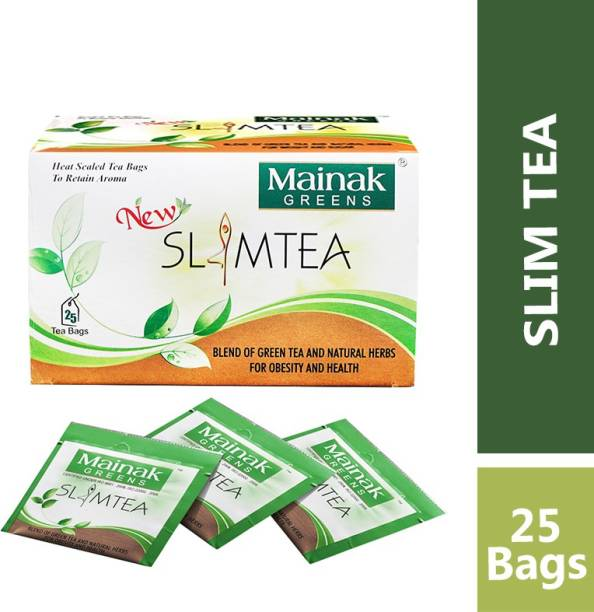 Mainak 100% Natural Slim Tea Indian Herbs Green Tea Bags Box