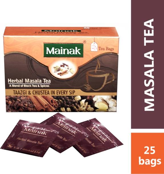 Mainak Herbal Masala Indian Spices Black Tea Bags Box