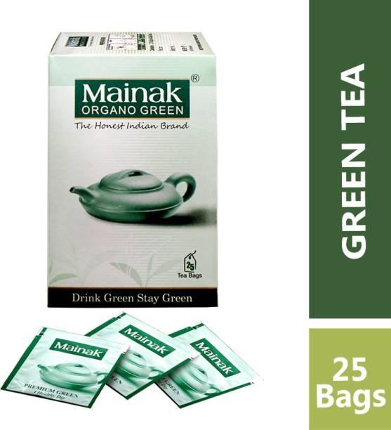 Mainak 100% Natural tea Unflavoured Green Tea Bags Box