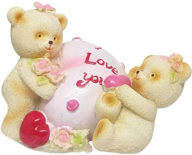 Natali Traders Cute Love Couple Showpiece - Gift for Girlfriend-Wife-Fiancee-Girls-Anniversary-Proposal Gift Decorative Showpiece  -  7.62 cm