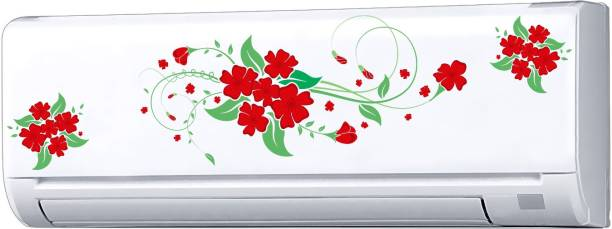 Decopix AC Sticker Fridge Sticker Wall Sticker Split Ac Stickers Air Conditioner Sticker - Standard Size (Fit for All Models / Sizes / Brands) (Vinyl, Multicolor)- DP6020