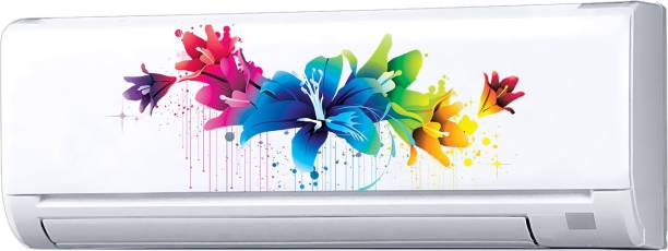 Decopix AC Sticker Fridge Sticker Wall Sticker Split Ac Stickers Air Conditioner Sticker - Standard Size (Fit for All Models / Sizes / Brands) (Vinyl, Multicolor)- DP6013