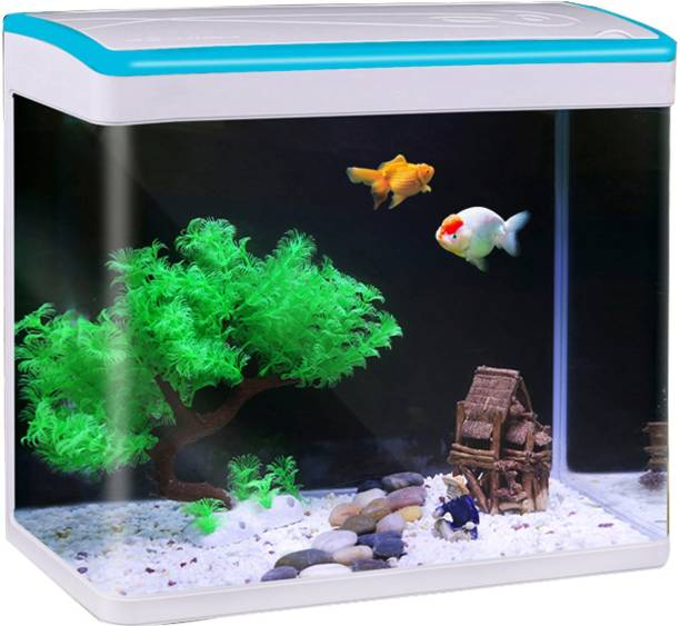 Jainsons Pet Products GIFT-MJ-M260-BLUE-COMBO Rectangle Aquarium Tank