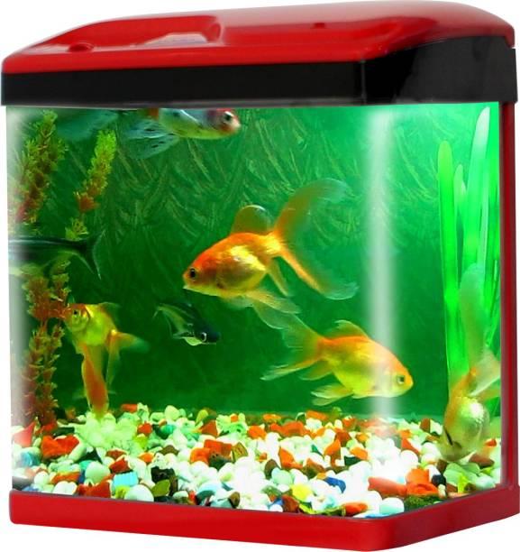 Jainsons Pet Products Fish Aquarium Tank 15 L Combo Round Ends Aquarium Tank
