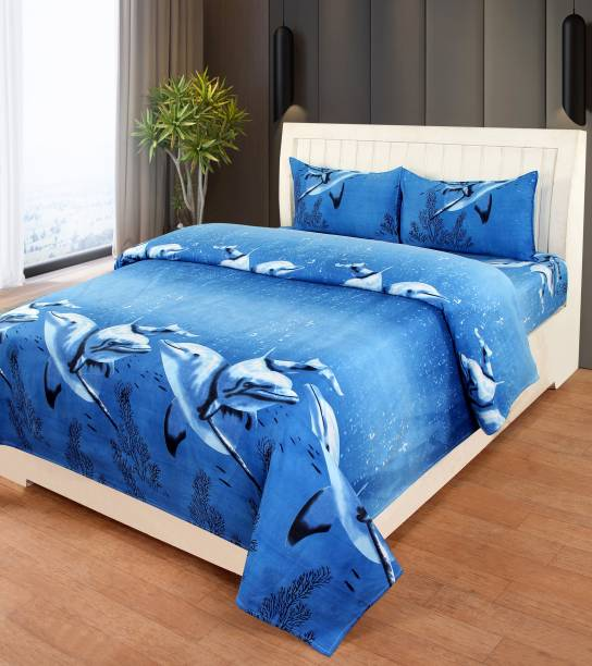 Home Pictures 104 TC Microfiber Double Floral Bedsheet