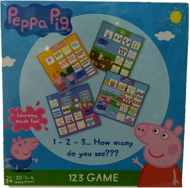 FUNSKOOL Peppa Pig 123 Board Game For Kids Educational Board Games Board Game