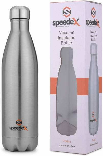 SPEEDEX Thermosteel Flip Lid Flask,Hot&Cold Water Bottle for Office Indoor(Silver, 750 ML) 750 ML Flask
