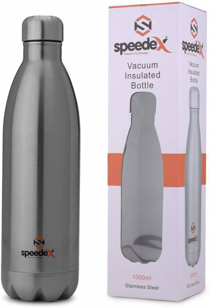SPEEDEX Thermosteel Flip Lid Flask,Hot&Cold Water Bottle for Office Indoor(Silver,1000 ML) 1000 ML Flask
