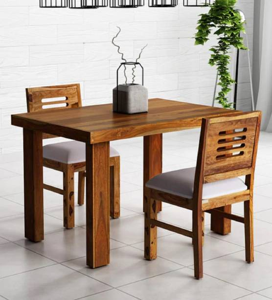Kendalwood Furniture Premium Dining Room Furniture Wooden Dining Table with 2 Chairs Solid Wood 2 Seater Dining Set