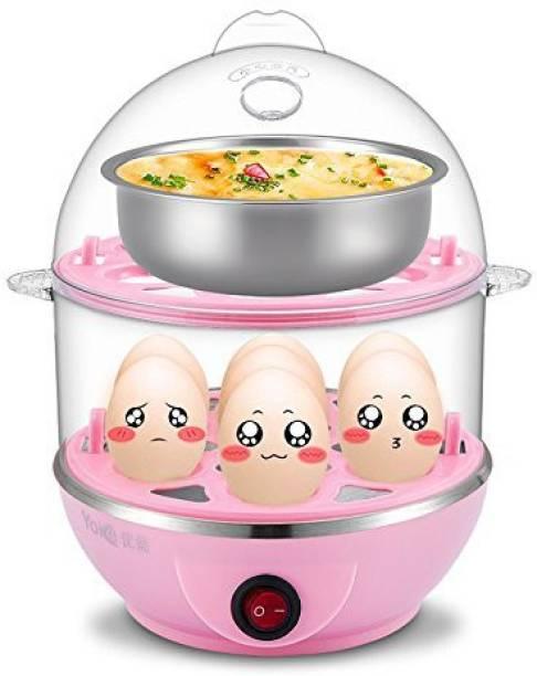 Soflin Double Layer Electric Egg Boiler, Cooker, Poacher and Milk Boiler Egg Cooker (Multicolor, 14 Eggs) Double Layer Electric Egg Boiler, Cooker, Poacher and Milk Boiler Egg Cooker (Multicolor, 14 Eggs) Egg Cooker