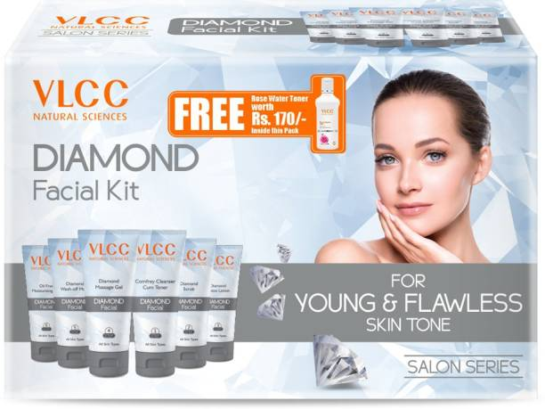 VLCC Diamond Facial Kit For Young & Flawless Skin Tone