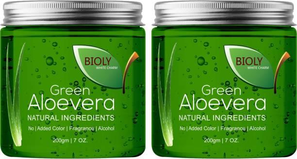 Bioly Green Aloe Vera Gel (Perfect Base before Makeup) (Pack of 2) Primer  - 400 ml