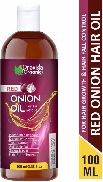 Dravida Organics Onion Hair Oil Nourishing Hair Fall Treatment With Real Onion Extract Intensive Hair Fall Dandruff Treatment Hair Oil