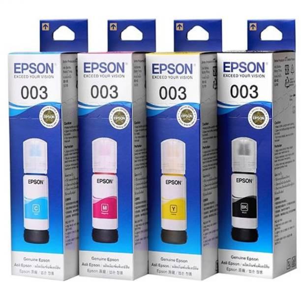 Epson EP-003-SET Black + Tri Color Combo Pack Ink Bottle