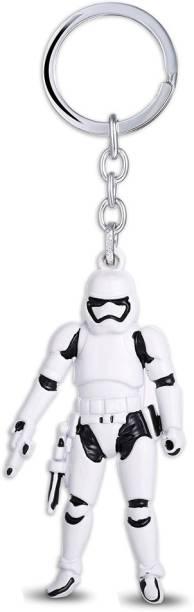 GCT Star Wars Stormtrooper Collectible (Design-1) White Black Metal Keychain for Car Bike Men Women Keyring Key Chain